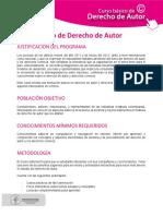 Curso Básico de Derecho de Autor Ficha Técnica Con Formato