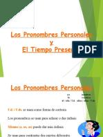 Pronombres y Presente