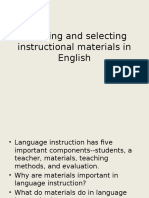 Adapting and Selecting Instructional Materials in English