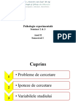 Psihologie Experimentala S3, S4