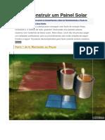 Como Construir Um Painel Solar Sdd
