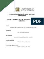 informe Subestacion Laviña(Jayanca)