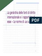 9. La Gerarchia Delle Fonti Di Diritto Internazionale