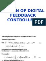 4. Design of Digital Feeddback Controllers