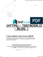 8 Tips to Master Cloze Test for SBI PO
