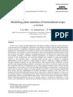 Modelling Nutrition