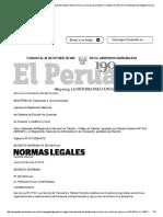 El Peruano - Aprueba El Reglamento Naci