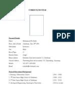 Curriculum Vitae Muhammad Tri Rizki