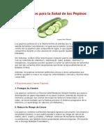 9 Beneficios Para La Salud de Los Pepinos