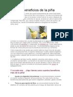 10 Beneficios de La Piña