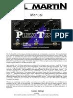 Manual Plexitone