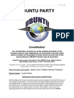 Ubuntu Party Constitution Oct 2015