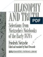 Nietzsche, Friedrich - Philosophy and Truth (Humanity, 1979).pdf