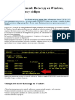 Como Usar El Comando Robocopy en Windows