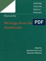 Nietzsche, Friedrich - Writings from the Early Notebooks (Cambridge, 2009).pdf