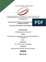 Monografía Efectos de Las Rebajas en Las Tasas Del Impuesto a La Renta en 2015.