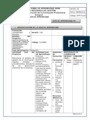 Guia 2 Estructura Plan De Cuentas 2 Contabilidad