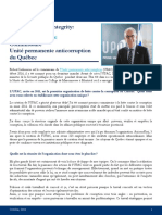 Profile in Public Integrity - Robert Lafrenière 19.10.16