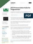 ASCII Pronunciation Rules for Programmers