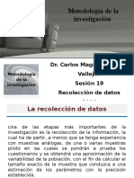 19 Sesión - Recolección de Datos