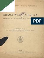 Auerbach M, Dąbrowski K - Gramatyka Łacińska [1937]