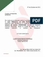 Carta Para Recolectar Paqueteria