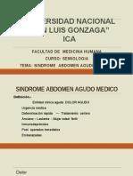 Abdomen Agudo . semiologia