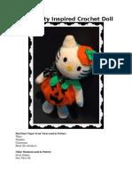 Hello Kitty Inspired Crochet Doll