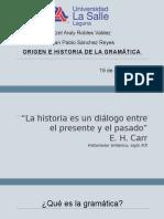 Origen e Historia de La Gramática_adiestramiento Del Lenguaje 2 Parcial