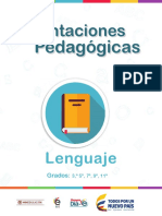 Orientaciones Pedagógicas Lenguaje Grado 5°