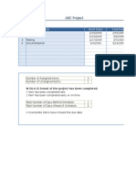 Project Item Tracker (Online)