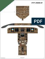 Aoa 777 Cockpit Poster