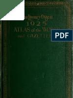 1925 World Atlas and Gazetteer