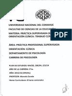 PSO Clínica - Programa 2015