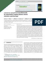 Elemental Analysis of Nanodiamonds by Inductively-coupled Plasma Atomic Emission Spectroscopy