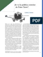 ¿A dónde va la política exterior de EPN? (Bien Común 985)