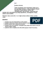 division assessment task