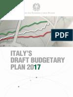 20161017 - Italy's Draft Budgetary Plan 2017 (Mef)
