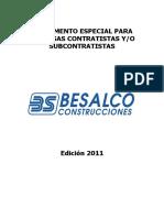 Reglamento Especial Para Contratistas y Subcontratistas 2011