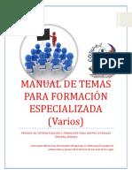 Manual de Temas Para Formación Especializada