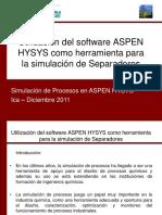 Curso de ASPEN HYSYS v 7.0 - Separadores Reales