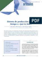 sistema de produccion JIT