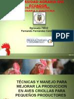 Tecnicas y Manejo de Aves Criollas.
