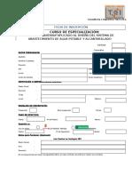 Ficha de Matricula de Sanitaria