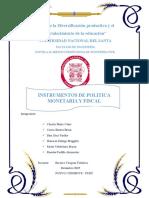 Instrumentos-De-politica Monetaria y Fiscal