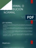 Ley Normal o Distribución Normal