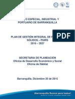 Plan de Gestión Integra de Residuos Sólidos (2016-2027) (Secretaría Distrital de Planeación)