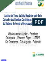 Analise DaTroca Do Selo Mecanico