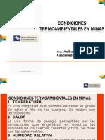 Condiciones Termoambientales en Minas Nomogramas
