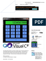 Creating a Calculator Visual Studio C#